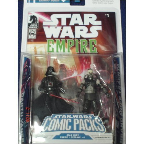 Star Wars Action Figure Comic 2-Pack Dark Horse: Empire #1 Darth Vader and Admiral Trachta (Star Wars Action Figur Admiral)