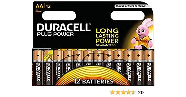 Duracell Plus Power Alkaline Batterien Aa 12 Stück Elektronik