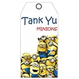 PARTY PROPZ MINION THANK YOU TAG 12 PC