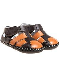 Little Blue Lamb - Zapatos primeros pasos para niño marrón marrón/naranja 6-12 meses