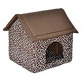 nanook Komfort Hundehöhle Katzenhöhle Robby braun - Aufbau per Reißverschluss