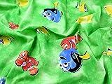 Findet Nemo Print Baumwolle Disney Stoff, Meterware, Grün