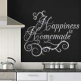 Glück Ist Selbst Gemacht Wandaufkleber Küche wohnzimmer wohnkultur zitat wandtattoo vinyl...