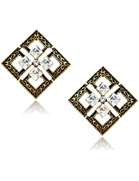 Meenaz Fashion Jewellery Traditional Gold Plated Pearl Crystal Earrings For Women Party Wear Stylish Designer... - B075VST745