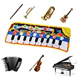 TIMESETL Alfombra de Piano, Alfombra Musical de Teclado 19 Teclas 110x36cm 8 Instrumentos Música de...
