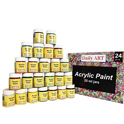Daily ART Premium Craft Acrylfarben Set, 24x25ml