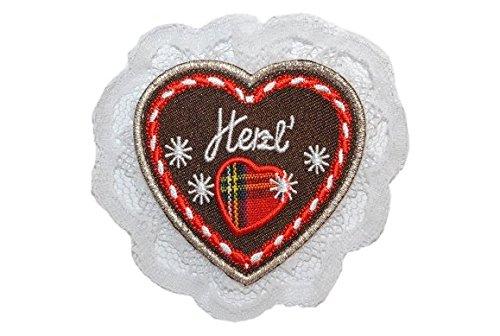 alles-meine.de GmbH Lebkuchenherz Herzl 8 cm * 8 cm BÜGELBILD Bild Herz Verliebt Spatz Liebe (Bilder Von Trachten)