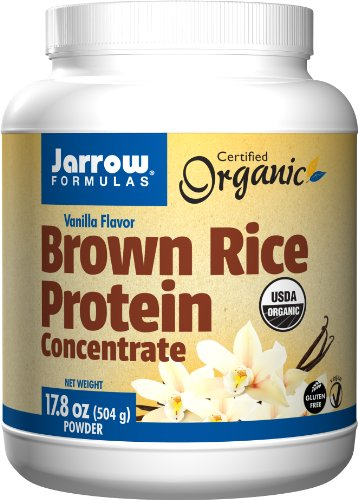 Jarrow Formulas Brown Rice Protein Concentrate Powder, Vanilla Flavor, 17.8 Oz (504 G)