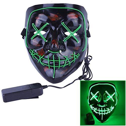 Halloween Maske Scary Grimasse EL Kaltlicht Leuchtende Maske -