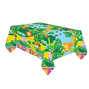 Manteles de plástico con animales de la selva de 1,8 x 1,2m Amscan International 9901918