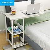WETERS Sofa Beistelltisch Arbeitszimmer Laptop Schreibtisch multifunktionales einfaches Bett mit abnehmbarem tragbarem Lazy-Tisch(Weiß)