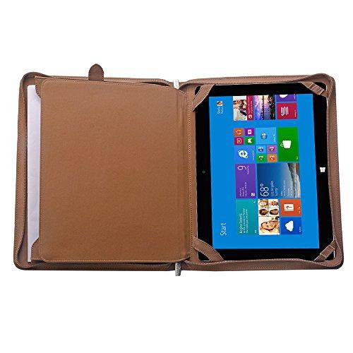 Wollfilz iPad Padfolio, Organisator-Folio-Kasten für Microsoft SurfacePro4/The New Surface Pro und A4 Notizblock,Braun (Padfolio Case Für Ipad 4)