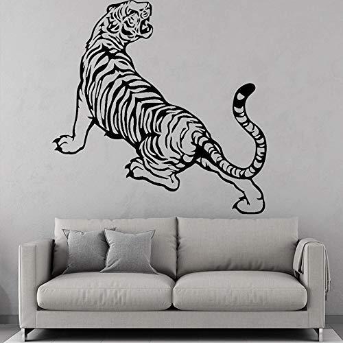 SLQUIET Fierce Tiger Wandaufkleber Moderne Mode Wandaufkleber Wohnkultur Zubehör Wohnzimmer Wandkunst Aufkleber lila 43x42 cm