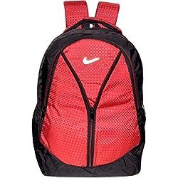 DZert Vila 30 Liters Polyester Light Weight School Bag Backpack (Red)