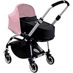Bugaboo Bee3 Bassinet & Sun Canopy - Soft Pink - Black by Bugaboo