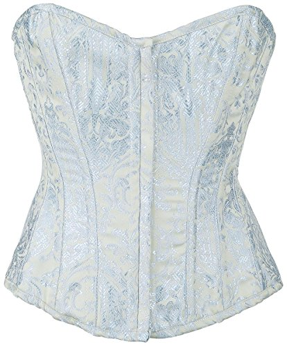 Burleska Glamour Zip Corsetto blu L
