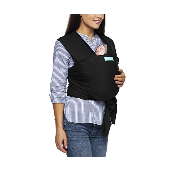 MOBY Evolution Baby Wrap Carrier for Newborn to Toddler up to 30lbs, Baby Sling from Birth, One Size Fits All, Breathable Stretchy Made from 70% Viscose 30% Cotton, Unisex Moby 70% Viscose / 30% Cotton Knit One-size-fits-all Grows with baby, from newborn to toddler 14