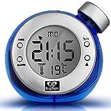 Alarm clock Smart Water Power Réveil Élément d'eau Magic Creative Enfants Muets Horloge Verte,Blue