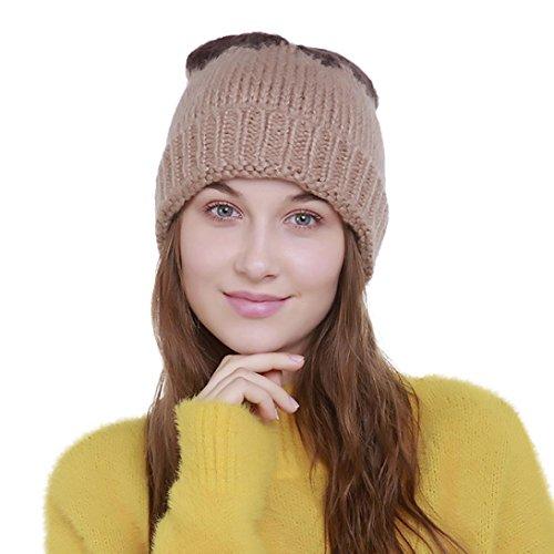schenk Flickwerk Mützen damen Frucht Hut Frauen bunt warm Caps Schnee outdoor (One size, Braun) (Carhartt-schnee-handschuhe)