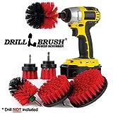 The Ultimate trapano spazzola spin Brush Power scrubber varietà di pulizia–ideale per doccia strofinare, moquette e tappeti, intonaco per strofinare, per piastrelle e pulizia Stiff-red