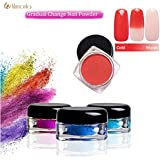 Veena 12 Colors Thermochromic Pigment Thermal Color Change Temperature Powder Dust Decorations Art Chameleon Shiny Nail Glitter Powder M01