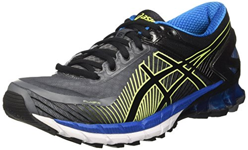 Asics Herren Gel-Kinsei 6 Gymnastikschuhe, Grau (Carbon / Black / Electric Blue), 45 EU