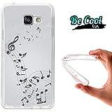 BeCool® Fun - Coque Etui Housse en GEL Flex Silicone TPU Samsung Galaxy A3 2016 , protège et s'adapte a la perfection a ton Smartphone et avec notre design exclusif.Partition grise