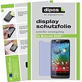 dipos I 2X Schutzfolie matt passend für Motorola RAZR I Folie Bildschirmschutzfolie
