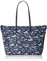 b1aea4ea5c6 Lacoste - Grand sac cabas imprimé hawaïen simili cuir femme L.12.12 Concept  (nf2798cf
