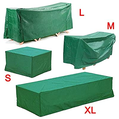 Beyondfashion S/M/L/XL Waterproof Outdoor Wicker Rattan Garden Bench Furniture Protective Cover Patio Tables & Chairs Cover Wicker Rattan