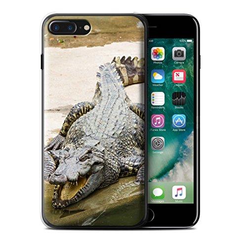 Stuff4 Hülle / Case für Apple iPhone 7 Plus / Koala Muster / Wilde Tiere Kollektion Krokkodil/Alligator