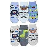 TupTam Unisex Baby Socken Bunt Gemustert 6er Pack, Farbe: Junge, Größe: 16-18