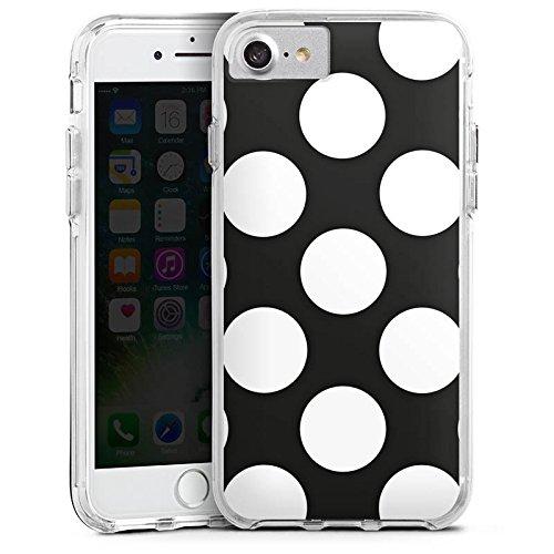 Apple iPhone 6s Bumper Hülle Bumper Case Glitzer Hülle Dots 50s 50er Bumper Case transparent