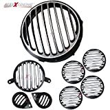 AllExtreme Rear Customized Head light Heavy Grill Set Indicator, Parking, Tail Light Grill For Royal Enfield Electra-Classic-350