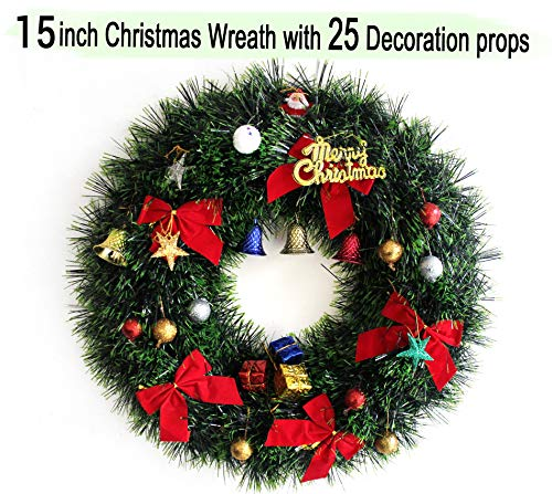 TIED RIBBONS Holy Wreath for Christmas Tree Decor Large Size Wall Hanging, Christmas Trees/Small Christmas Tree Hanging Ornaments
