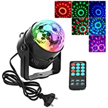 KYG Mini LED Lampara Dicoteca para Fiestas en Hogar Luz de RGB Escenario Giratorios Control por Voz Efecto Mágico