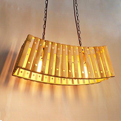 Caribou Deckenleuchte Deckenlampe Pendelleuchte Bambus WebenKronleuchter600 x 200 x 850 mm