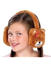 Filles Fluffy animaux en peluche cache-oreilles