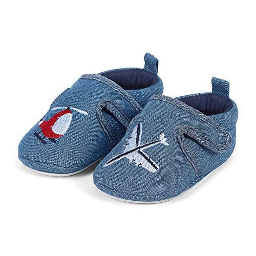 Sterntaler Jungen Baby-Krabbelschuh Slipper, Blau (Marine 300), 20 EU