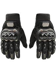 Gants de Moto pour la Course en Fibre de Carbone noir Tailles