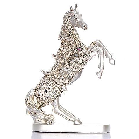QNQA la décoration des ornements dons créatifs ameublement de maison ameublement de maison artisanat bijoux créatifs de cheval exquis résine libéré