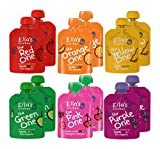 Ella's Kitchen Organic Smoothie Fruits Mixed Case Selection The Yellow, Purple, Pink, Orange, Green, Red One (12 x 90 g)