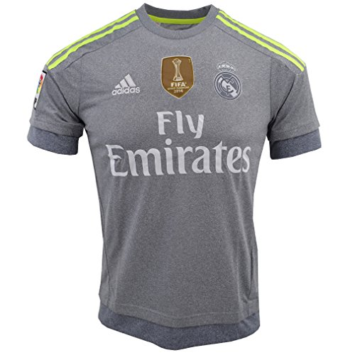 adidas Real A JSY YWC - Camiseta para niño, Color Gris/Lima, Talla 164