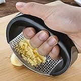 ESHOO Garlic Press Garlic Peeler Set Stainless Steel Professional Grade Manual Garlic Press
