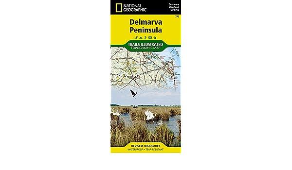 Trails Illustrated Delmarva Peninsula Trail Map
