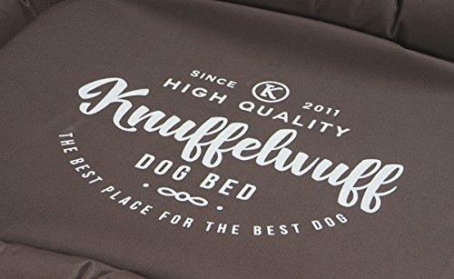Knuffelwuff 13981-003 Bedrucktes, wasserfestes In und Outdoor Hundebett, Hundekissen, Hundesofa, Hundekorb, Mika, 120 x 85 cm, XXL, braun - 3