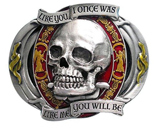Como Usted me I fue una vez como que será Biker Motorcycle Alta Calidad calavera hebilla de metal