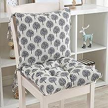 KongEU - Cojín para Silla de jardín, Asiento de Oficina para sillas de Respaldo bajo