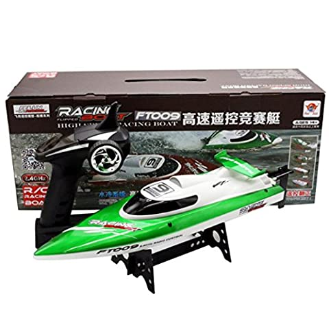 Remote Control Boat, SEWORLD Hot Feilun FT009 2.4GHz 4 Channel Water Cooling High Speed Racing RC Boat Gift (Green)