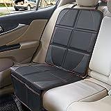 Autositzauflage, SUPTEMPO Isofix geeignete Kindersitzunterlage wasserabweisend Auto-Kindersitzunterlage Autositzschutz mit 2 Aufbewahrungstaschen